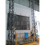 10-meetrine alumiiniumist trossiga riputatud platvorm zlp1000 ühefaasiline 2 * 2,2 kW